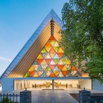 Shigeru Ban - Cardboard Cathedral, Christchurch, New Zealand, 2013  Photo by Stephen Goodenough