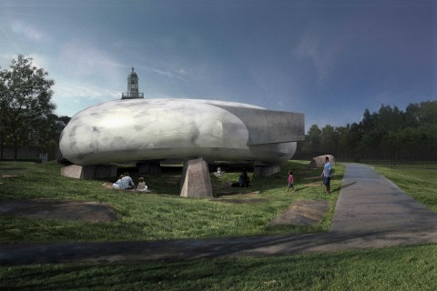 Smiljan Radic - Serpentine Galleries Pavilion 2014, External indicative