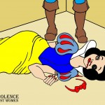 Snow White and Prince Charming Art Portrait Social Campaign Domestic Woman Women's Violence Abuse Satire Cartoon Illustration Critic Humor Chic by aleXsandro Palombo 1