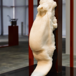 Ursula Mayer, Mucosal Love, 2013, glass/polyester object on metal pedestal object. Courtesy of the artist. Photo: Ursula Mayer