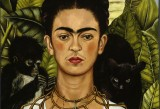 Frida Kahlo, Autoritratto con collana di spine, 1940 - Olio su tela, cm 63,5 x 49,5 - Harry Ransom Center, Austin - © Banco de México Diego Rivera & Frida Kahlo Museums Trust, México D.F. by SIAE 2014