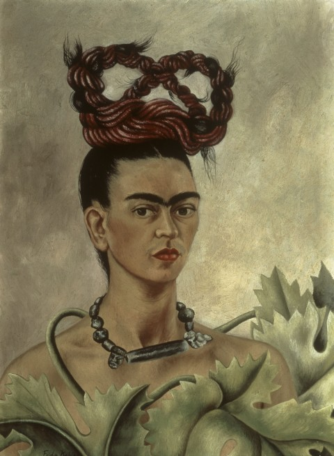 Frida Kahlo, Autoritratto con treccia, 1941 - Olio su tela, cm 51 x 38,5 - The Jacques and Natasha Gelman Collection of 20th Century Mexican Art and The Vergel Foundation, Cuernavaca - © Banco de México Diego Rivera & Frida Kahlo Museums Trust, México D.F. by SIAE 2014