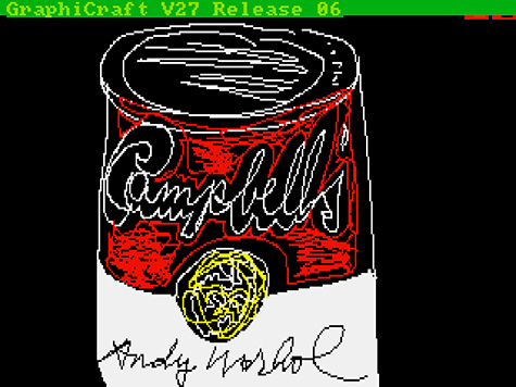 Andy Warhol - Campbell's, 1985, Digital image, from disk 1998.3.2129.3.22,The Andy Warhol Museum, Pittsburgh,Founding Collection, Contribution The Andy Warhol Foundation for the Visual Arts, Inc.(© 2014 The Andy Warhol Foundation for the Visual Arts, Inc. - Artists Rights Society (ARS), New York)
