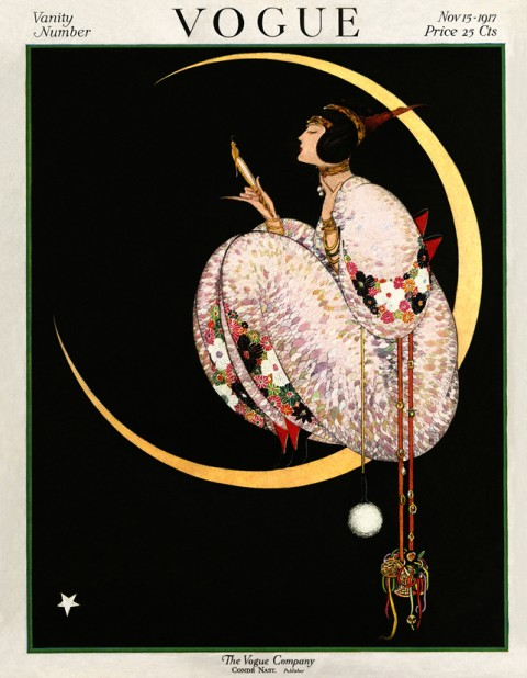 Copertina di Vogue US del 15 novembre 1917 - illustrazione di George Wolfe Plank, Vogue © Condé Nast
