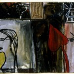 tsibi geva, untitled, 1984, mixed media on canvas, 170x300 cm. Courtesy of the Discount Collection