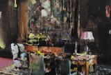 Adrian Ghenie, Pie Fight Interior, 2012