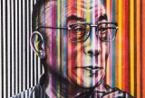 Kobra, Dalai Lama - 50x50 cm, spray paint on canvas. Courtesy Dorothy Circus Gallery