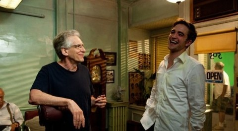David Cronenberg e Robert Pattinson sul set di Maps to The Stars (2014)