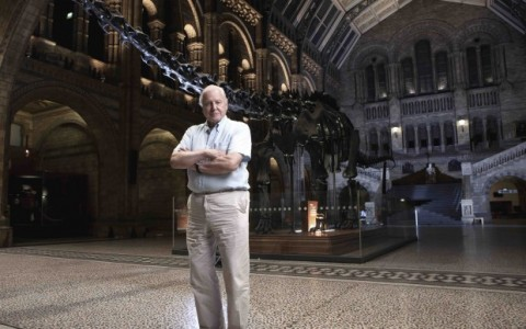Richard Attenborough al Natural HIstory Museum