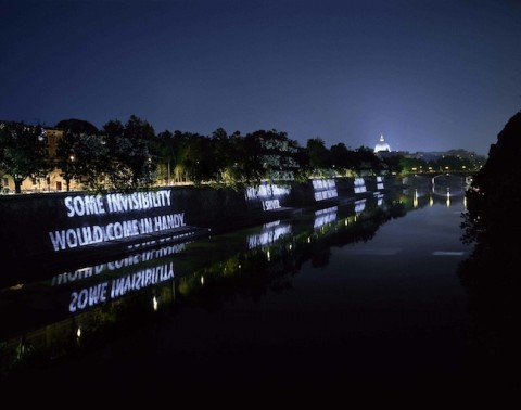 Jenny Holzer, For the Academy (2007), Piazza Tevere, Roma