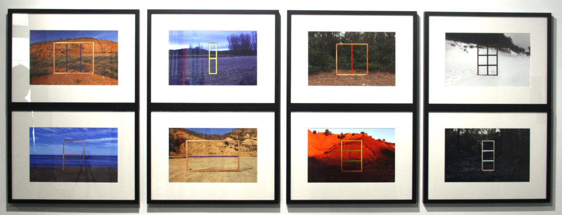 Irene Grau, Enamel on stretcher in landscape, 2014, Ultrachrome print on baryta paper, 28 x 45 cm each (8 pieces total)