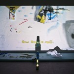 Trisha Baga, PPP, 2013. 3-D Video Projection, foam screen and elements, various objects, pedestal, dimension variable - 4 min. loop