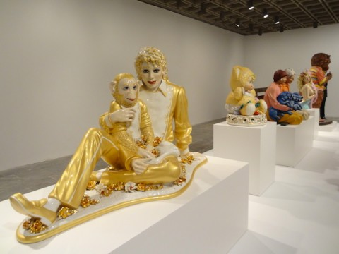 Jeff Koons al Whitney - Michael Jackson and Bubbles 1988, Photo Benjamin Sutton