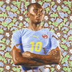 Kehinde Wiley, Samuel Eto'o, 2010. Image courtesy of the artist, and Roberts & Tilton, Culver City