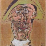 'Harlequin Head' by Pablo Picasso, 1971
