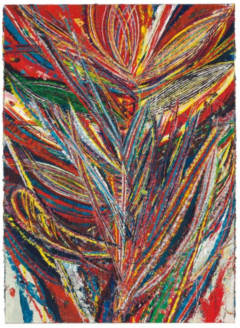Mark Grotjahn, Untitled (Standard Lotus No. II, Bird of Paradise, Tiger Mouth Face 44.01) del 2012