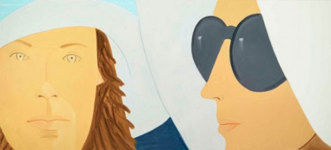 Alex Katz (b. 1937), Katherine and Elizabeth, 2012. Oil on Linen, 72 x 186 inches. Collection of the artist; courtesy Gavin Brown's enterprise. © Alex Katz. Licensed by VAGA, New York, NY