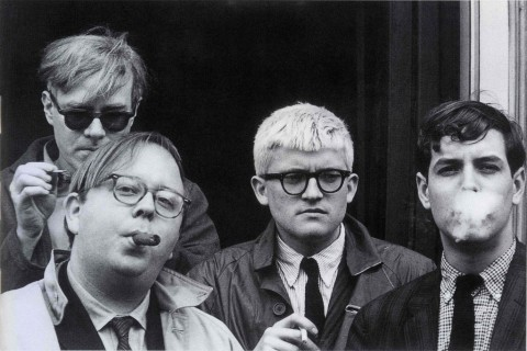 Andy Warhol, Henry Geldzahler, David Hockney and Jeff Goodman, 1963 - foto  Dennis Hopper