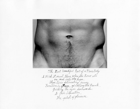 Duane Michals, The Most Beautiful Part of a Man's Body (1986)