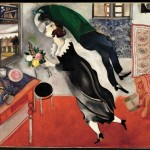 Chagall, Marc (1887-1985): Birthday, 1915. New York, Museum of Modern Art (MoMA) Oil on cardboard, 31 3/4 x 39 1/4 (80.6 x 99.7 cm). Acquired through the Lillie P. Bliss Bequest. 275.1949*** Permission for usage must be provided in writing from Scala. May