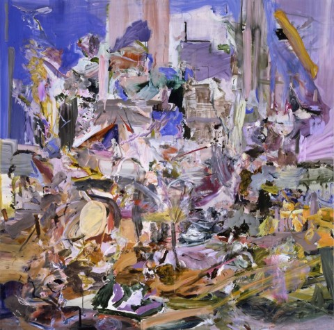 Cecily Brown, The Adoration of the Lamb, 2005-2006 - olio su lino, 198,1 × 198,1 cm - Gagosian Gallery Immagine © Cecily Brown. Courtesy Gagosian Gallery - photo Robert McKeever