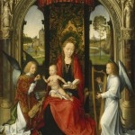 Hans Memling, Madonna col Bambino e angeli, 1480-1485 ca., olio su tavola, 58,8 x 48 cm, Washington, National Gallery of Art, Andrew W. Mellon Collection