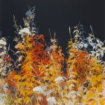 Henrik Simonsen Gold Dusk, 2013, 19 colour screenprint with hand-applied gold and copper leaf, uniquely hand-finished by the artist, edition of 15, 940 x 1130 mm. Courtesy of Eyestorm