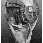 Maurits Cornelis Escher - Mano con sfera riflettente, 1935 © 2014 The M.C. Escher Company. All rights reserved