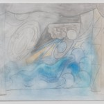 Silke Otto-Knapp - Stage with Shooting Stars (blue and gold,) 2013. Courtesy of Gavin Brown's Enterprise, New York