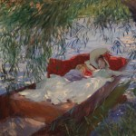 John Singer Sargent, Two Women Asleep in a Punt under the Willows, 1887 ca. – © Museu Calouste Gulbenkian, Lisbona – photo Catarina Gomes Ferreira