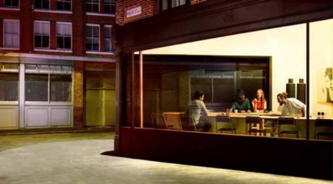 Nighthawks, di Edward Hopper, secondo Ikea