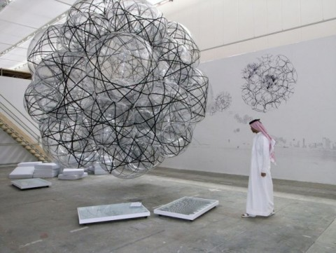 Thomas Saraceno, Flying Air-Port-City, 2007 - Commissioned & produced by Sharjah Biennial 2007 - Photo by Peter Riedlinger