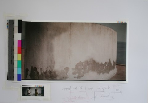 Peter Welz - Study case malaparte bardot and piccoli, erased  curved wall II