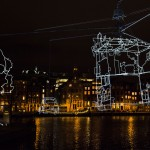 Amsterdam Light Festival 2013, Ralf Westerhof, Drawn in Light. Photo © Janus van den Eijnden