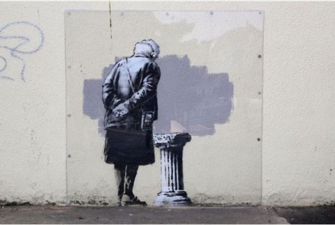 Art Buff, l'opera di Banksy (foto bristolpost.co.uk)