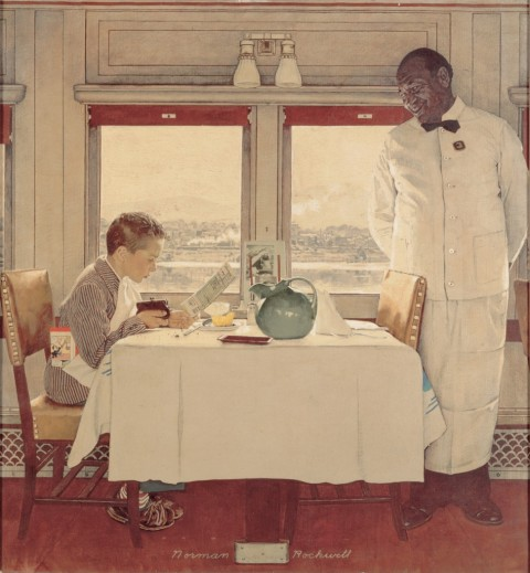 Norman Rockwell, Boy in Dining Car, 1946 - Collection of The Norman Rockwell Museum at Stockbridge