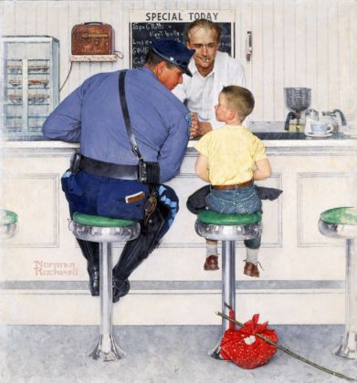 Norman Rockwell, The Runaway, 1958 - Collection of The Norman Rockwell Museum at Stockbridge