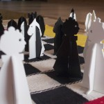 Olive & Patrick, LEchiquete (Checkered Chess), 2012, pieces and chessboard, Photography Olive Martinedited