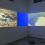 Anna Mikkola & Matilda Tjäder, Human Interference Task Force, Episode 1: Community of Cells, 2014, performance and video installation with 3 projections and audio, 00:12:11, photo by Giorgio Benni