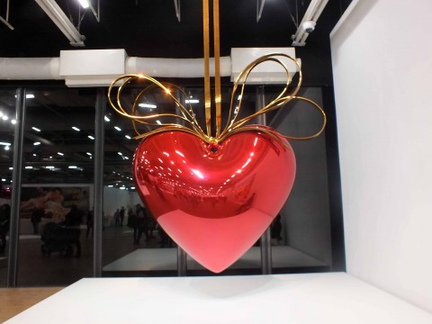 Jeff Koons, serie Celebration, Hanging Heart, 1994-2006 © Silvia Neri