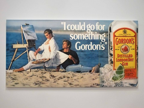 Jeff Koons, serie Luxury&Degratadion, I Could Go for Something Gordon's, 1986 © Silvia Neri
