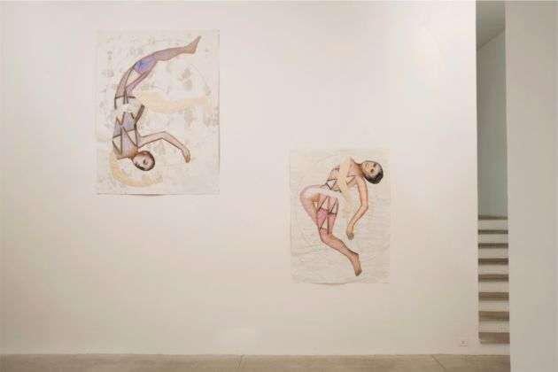 Mathilde Rosier, 2014 - Installation view at Galleria Raffaella Cortese - photo Lorenzo Palmieri