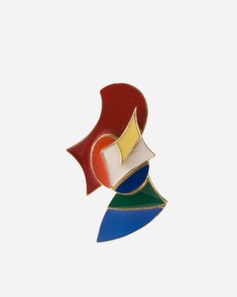 Giacomo Balla, Elica, 1992, Gold plate and enamel, 13/350 edition