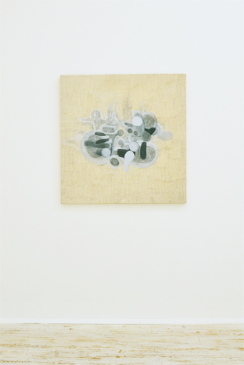 Alessia Xausa, Untitled, 2015, Graphite and oil on canvas, 100x100 cm