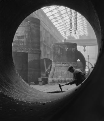 Emil Otto Hoppé, Rotary Kilns Under Construction in the Boiler Shop, Vickers-Armstrongs, Steel Foundry, Tyneside, 1928, England, Modern Digital Print, © E.O. Hoppé Estate Collection / Curatorial Assistance