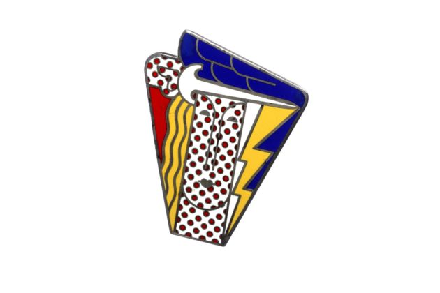 Roy Lichtenstein, Modern head, 1968. Brooch, enamel on metal, Edition multiples