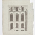 John Soane, Elevation of the facade of No. 13 Lincoln's Inn Fields, 1812 ca.