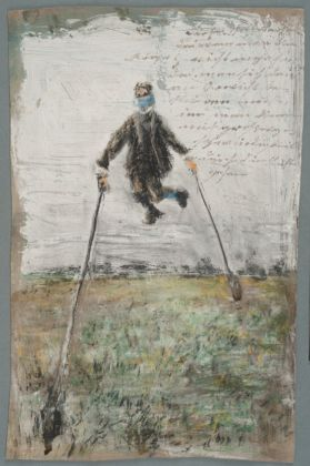 Josef Forster, Untitled [Man without Gravity], ca. 1916-1921 - Prinzhorn Collection, Inv.Nr. 4494