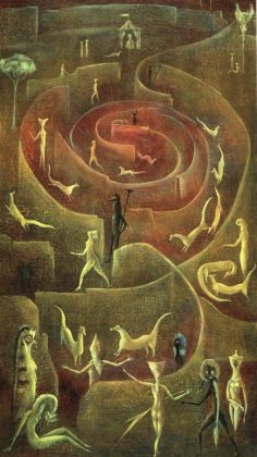 Leonora Carrington, Ferret Race, 1950-51