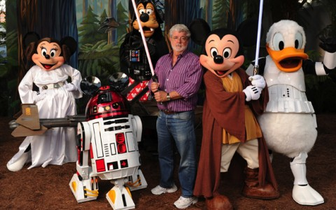 George Lucas nei Walt Disney Studios di Hollywood